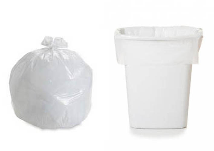 HDPE White C Fold Plastic Garbage Bag pictures & photos