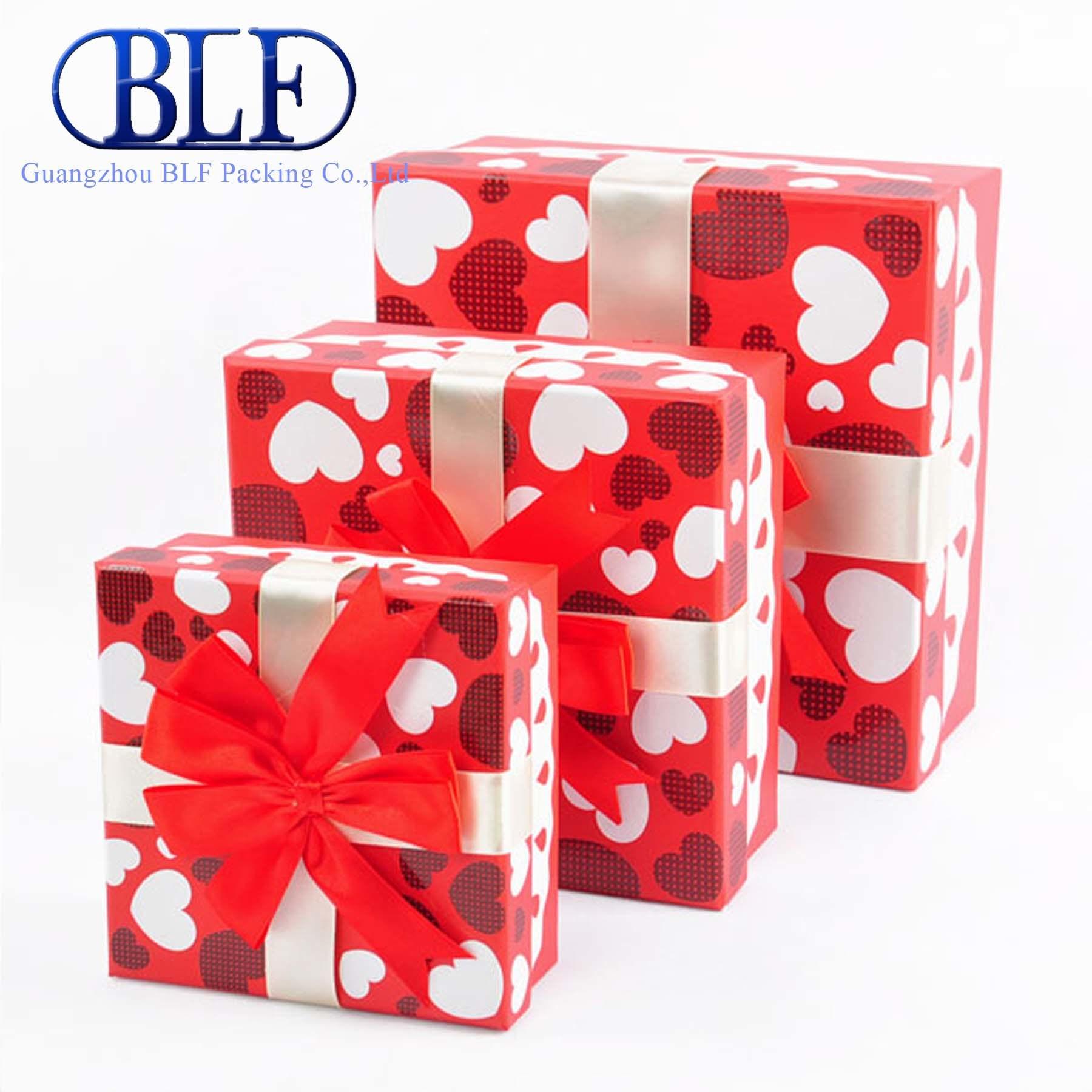 China Red Paper Wedding Gift Boxes (BLF-GB010) - China Wedding Gift ...