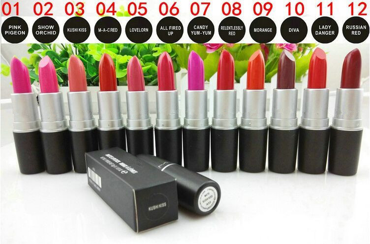 Famous Brand Lipsticks! 24 Colors Professional Cosmetic Lip Gloss Fashion Nude Makeup Lipstick pictures & photos
