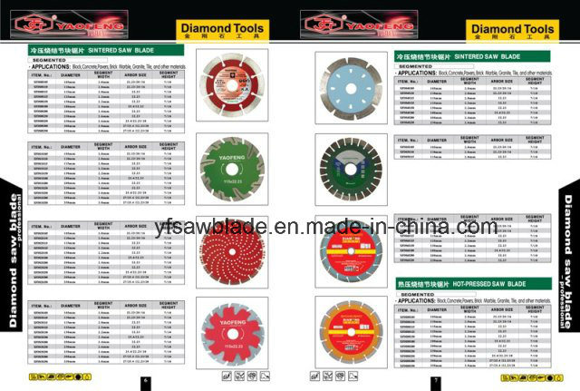 Cold Sintered Diamond Saw Blades for Marble, Granite, Concrete, Stone Material