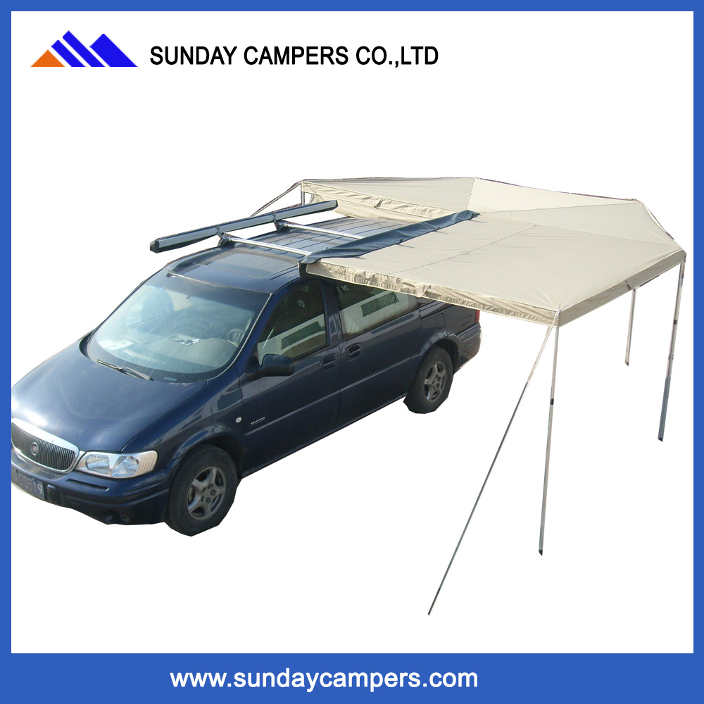 China 4WD Outdoor Offroad Car Roof Foxwing Awning For Trucks Camping Tent