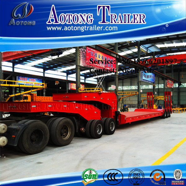 2-3 Axles Heavy Duty 50tons 40FT Flatbed Container Tranport Semi Trailer pictures & photos