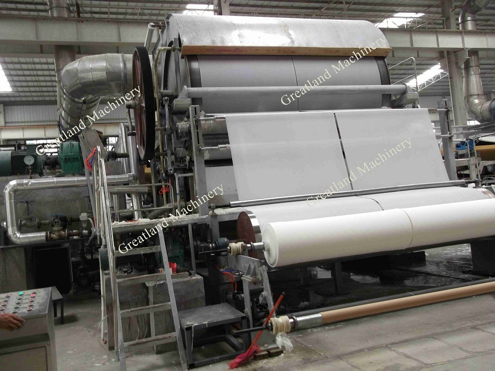 2ton Per Day-1092mm Waste Paper Recycling Facial Tissue Paper Making Machine