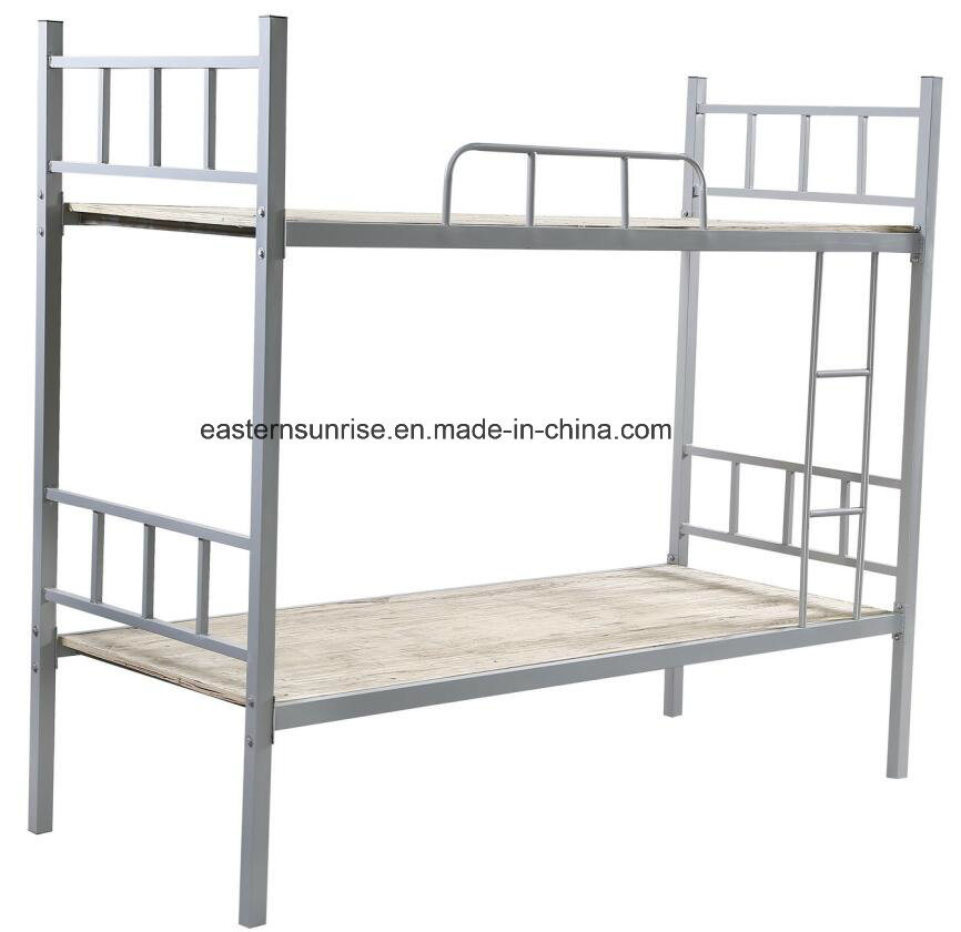 China Durable Strong Double Metal Bed Cheap Metal Frame Bunk Bed