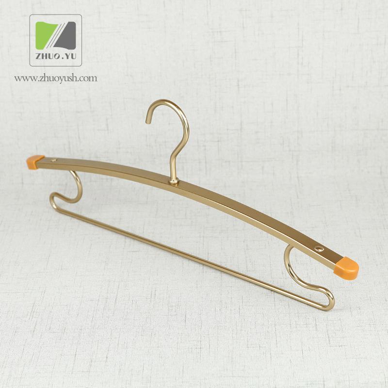 China Hotel Used Aluminum Alloy Wire Clothing / Coat Laundry Hangers ...