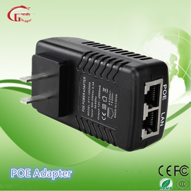 [Hot Item] Poe Adapter12V 2A 24W Power Supply for LED LCD Monitor with Ce  RoHS FCC