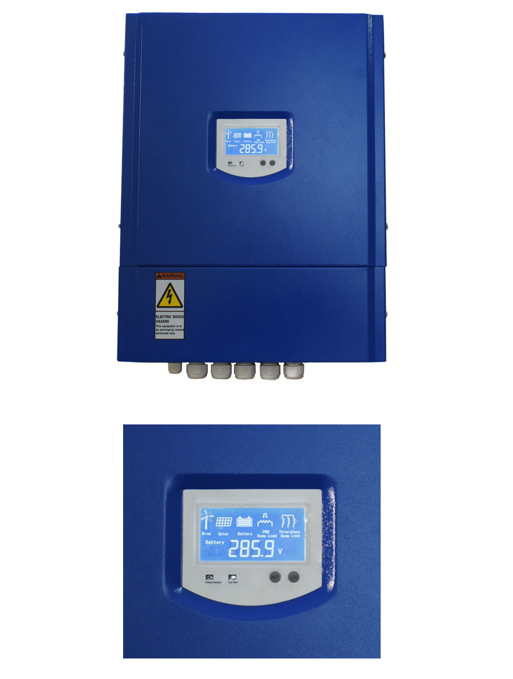 China 2kw48v Mppt Wind Turbine Solar Hybrid Controller With Wifi Dumpload Charge Gprs Power