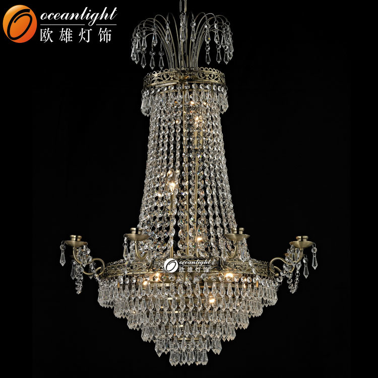 China New Classic High Quality Crystal Chandelier Lighting Traditional Light Ow140 Pendant Lamp