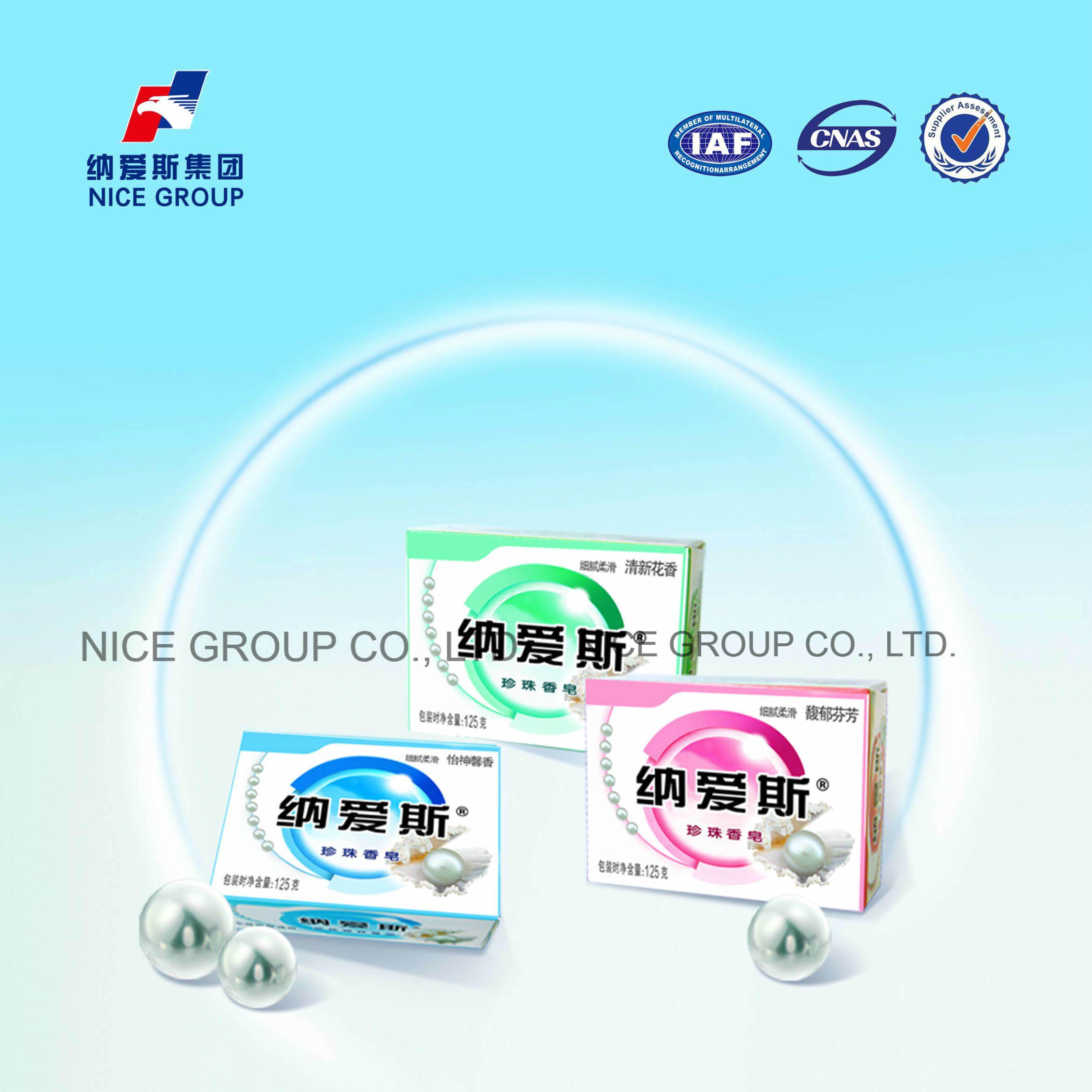 China Nice Brand 125g Natural Perfume Pearl Toilet Soap Photos ...