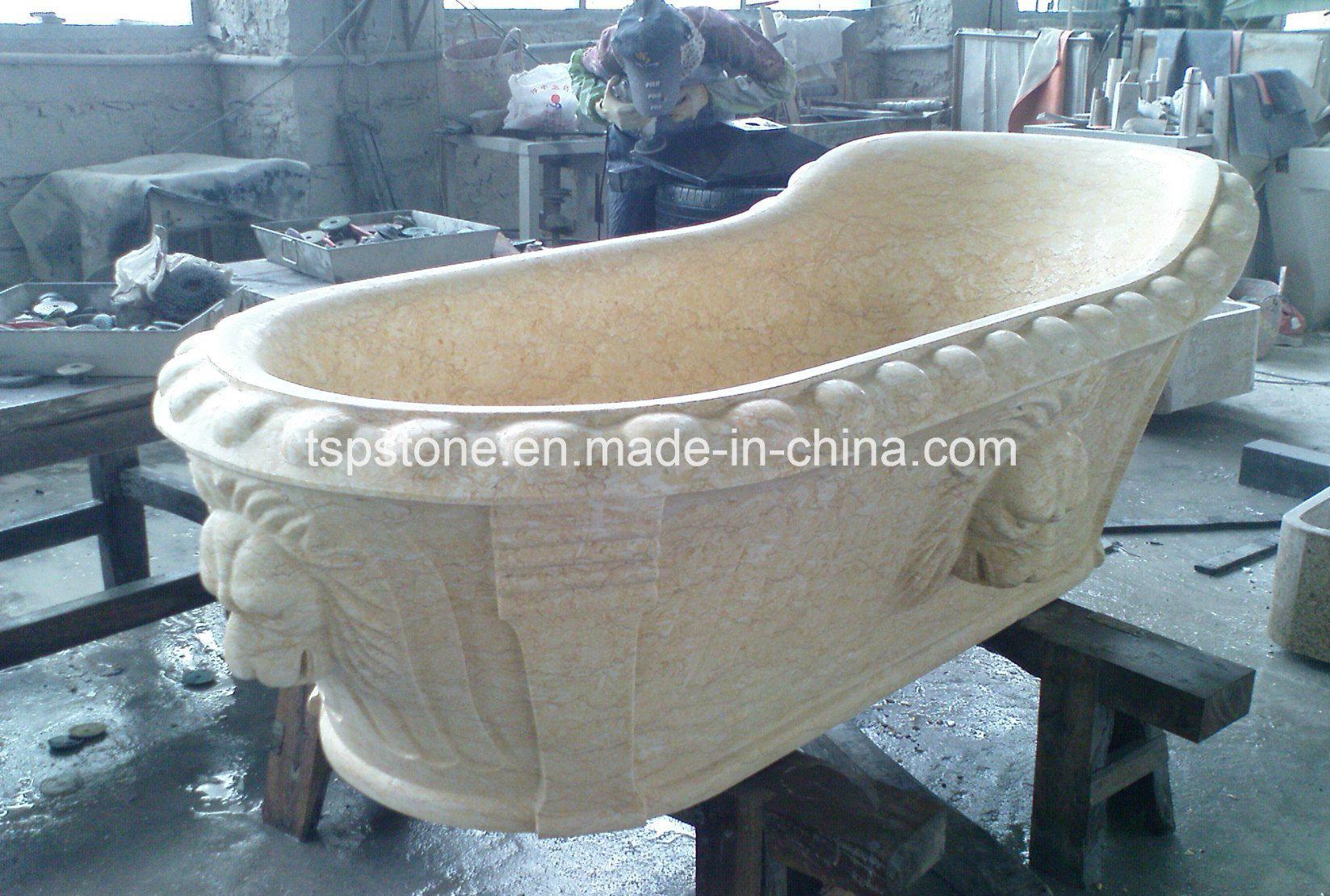 China Natural Pedestal Granite/Marble Stone Bathtub for Select ...