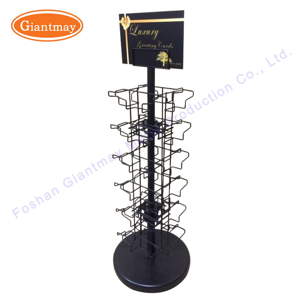 China Rotating Counter Top Wire Greeting Card Holder Wholesale