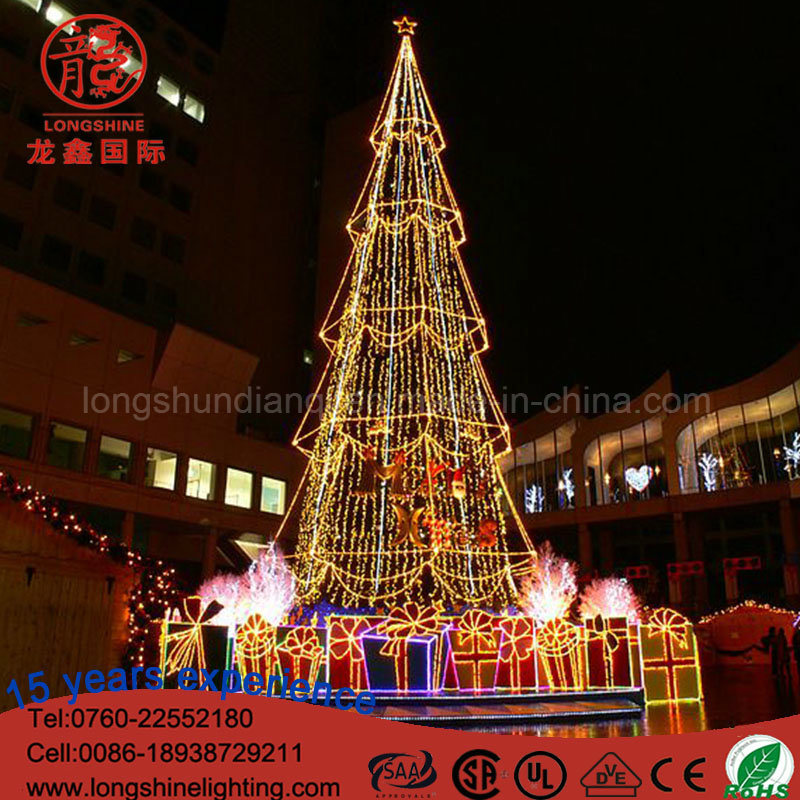 China Led Large Garland Christmas Tree Light For Plaza Decoration