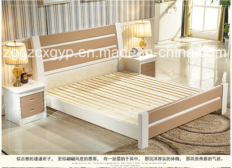 China New Style Bedroom Furniture Wood Bed High Quality Double Factory Supply Cx Wb03 Kids