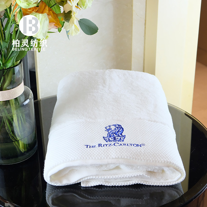 China Custom Embroidered Logo White 100 Cotton 5 Star Luxury Hotel Bath Towel Hand Towel Cleaning Bathroom Towels Set China Embroidery Logo Towel And Bath Towel Price