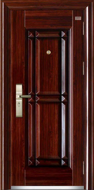China Nigeria Main Entrance Exterior Cheap Steel Security Door