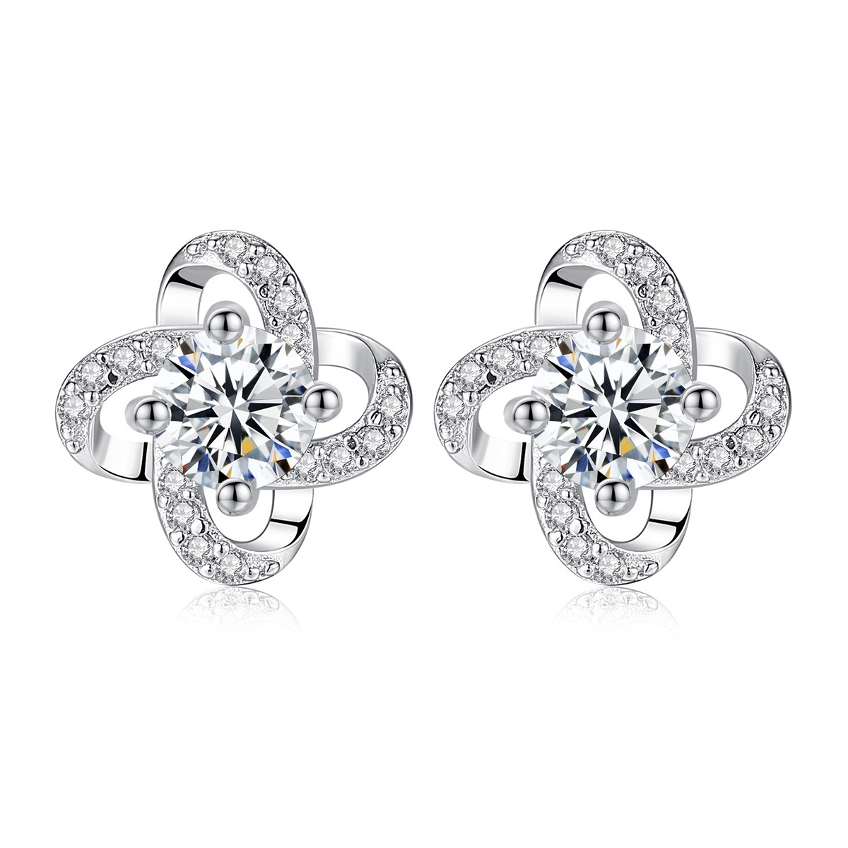 53e087848d0d6 [Hot Item] Small Round 925 Sterling Silver Stud Earrings Jewelry