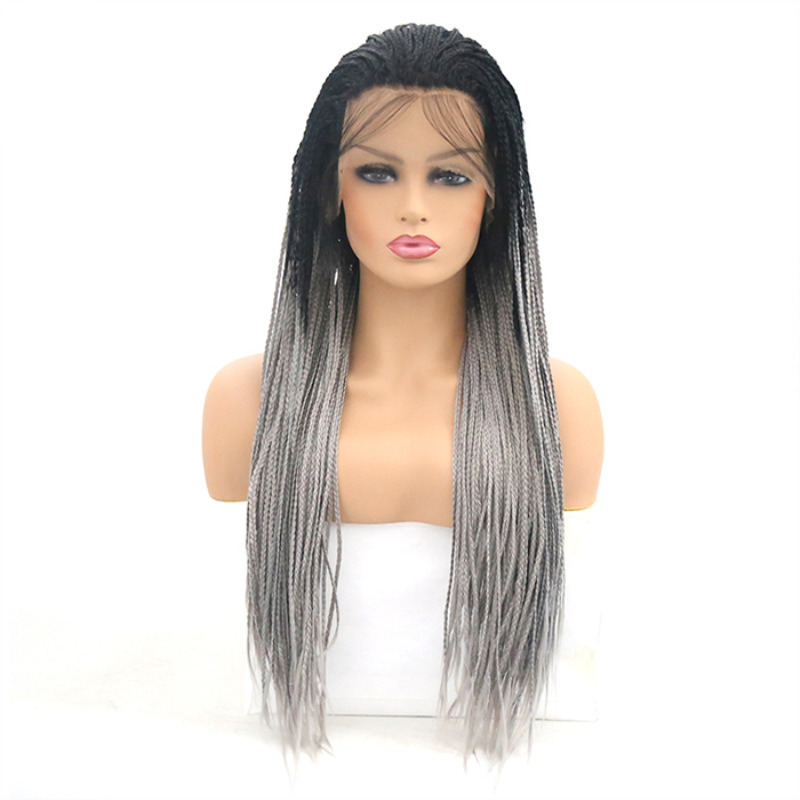 f971aa1f084 [Hot Item] Cheap Price Long Braided Box 2X Twist Front Lace Wig