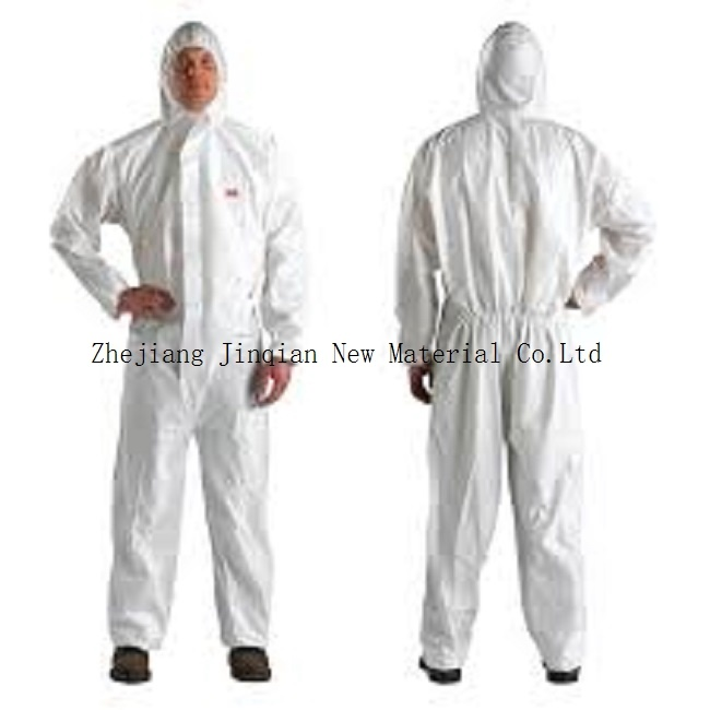 Eco-Friendly&Anti-Bacterial Disposable Microporous S. F Nonwoven Fabric Protective Coverall pictures & photos
