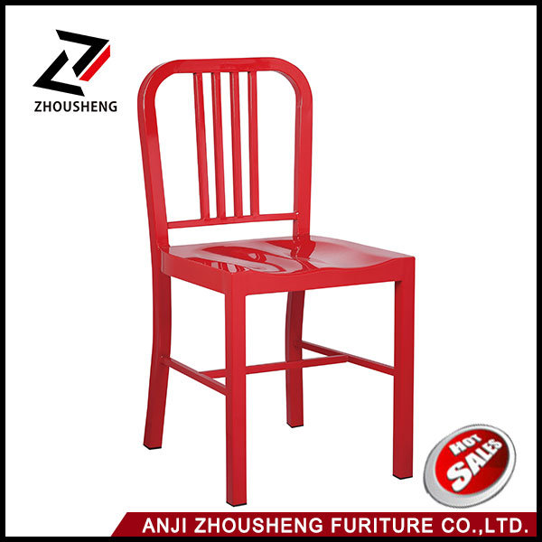 Anji Yellow Color Metal Navy Dining Chair Zs-T-1018