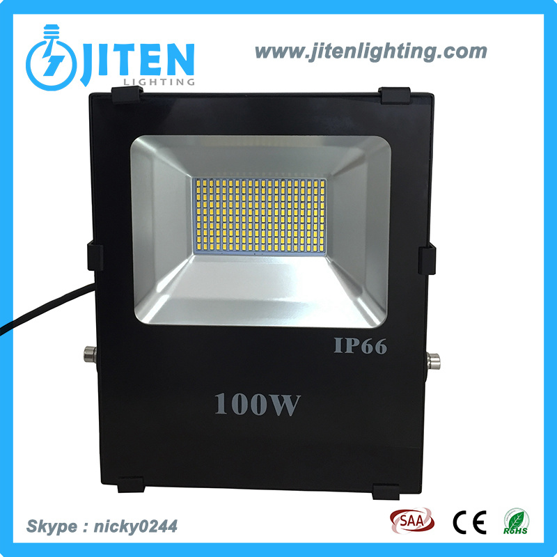 New Design 100W LED Floodlight Outdoor Lighting Fixture, Ce, RoHS SAA Approved, IP65 Water-Proof