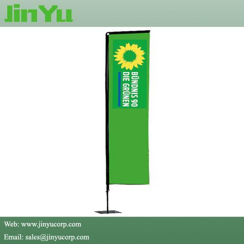 2 2m Aluminum Advertising Square Beach Flag Pole