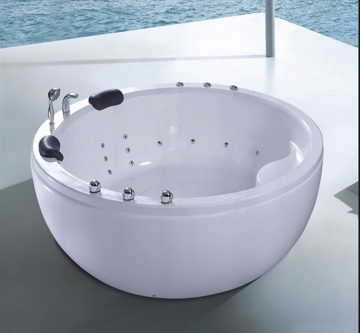 China 1800mm Round Free Standing Jacuzzi SPA 6 People with Ce RoHS ...