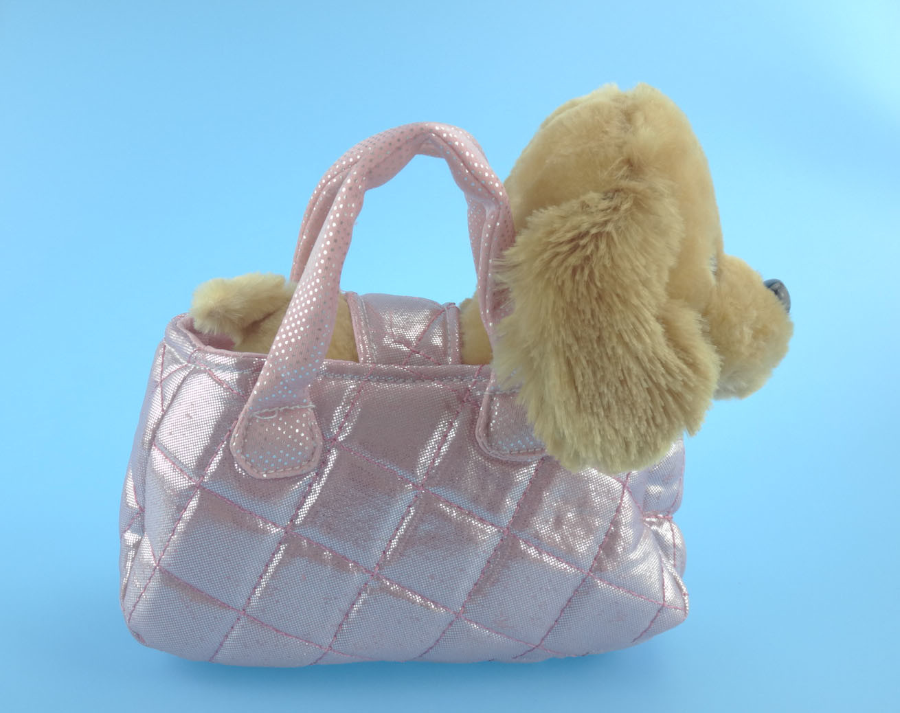Cute Plush Dog with Portable Dog Bag Plush Toy pictures & photos