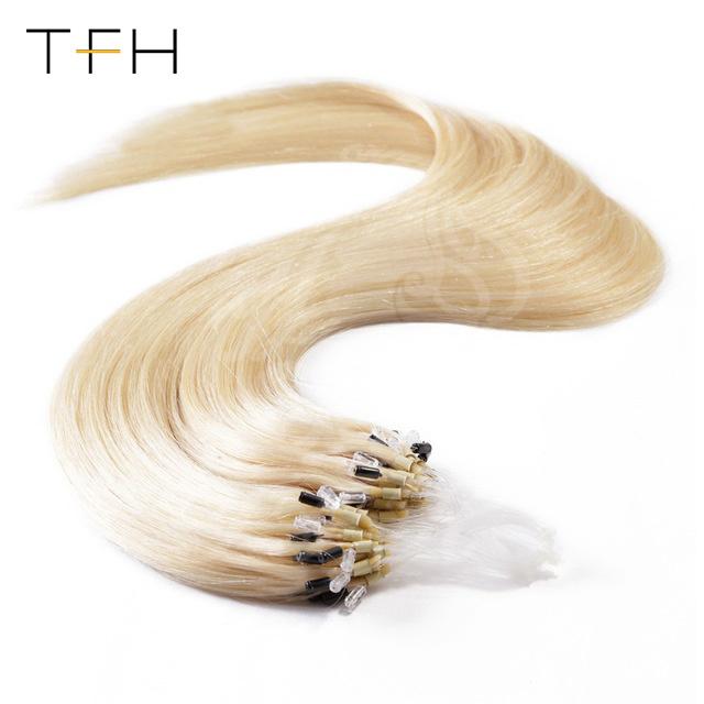 China Top Fashion Straight Hair 141618202224loop Micro Ring