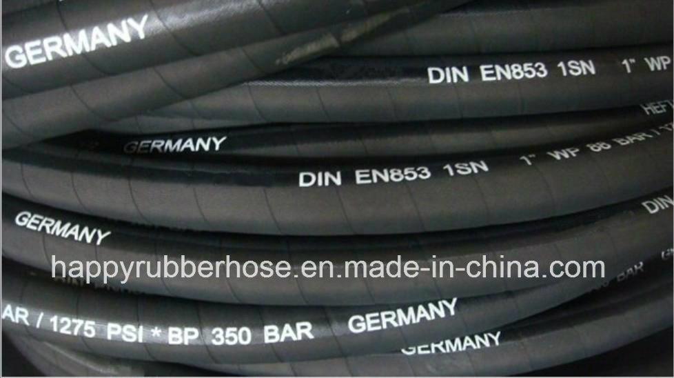 China Super Flex One Single Wire Braid Hydraulic Oil Hose 1sn Photos ...