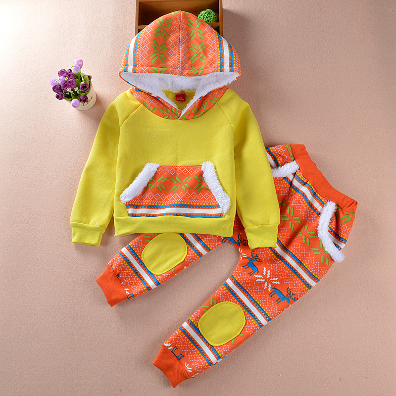 Kids′ Winter Clothing Two Piece Suit Christmas Clothing Kd5224