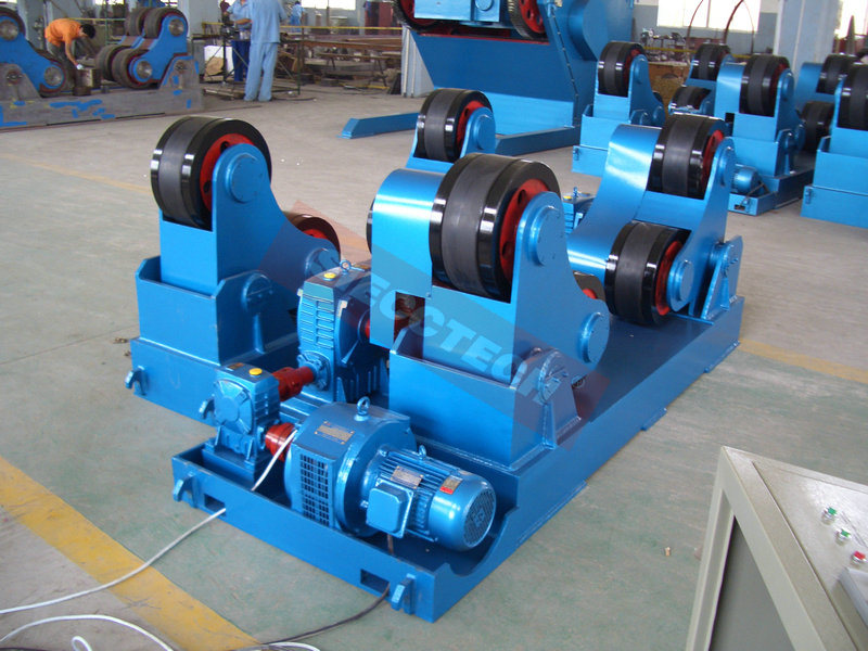 80ton Self Align Widen PU Rollers / 03years Warranty Welding Rotator