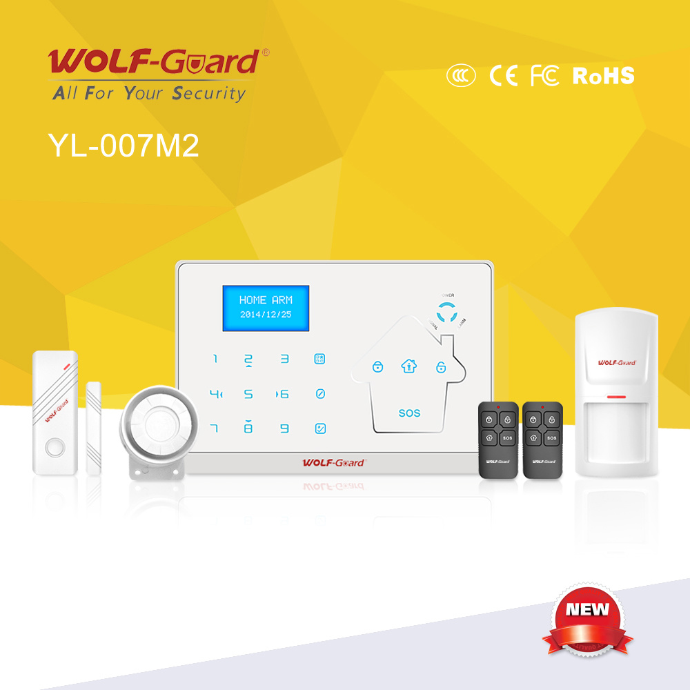 2016 New Dual Network Alarm with GSM and PSTN Contact ID Ademco