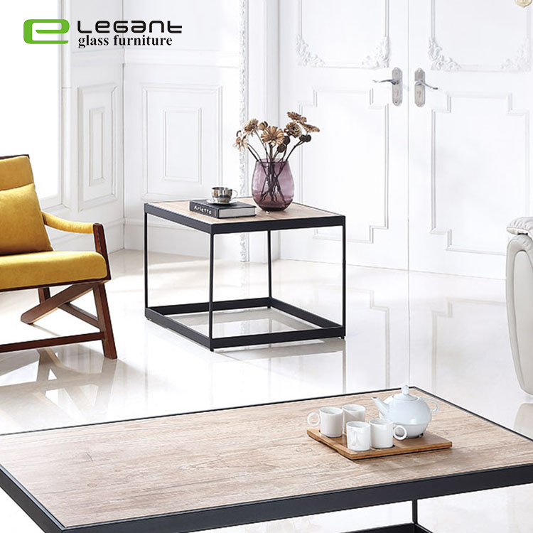 [Hot Item] 5mm Ceramic Top Metal Frame Coffee Table for Living Room  Furniture