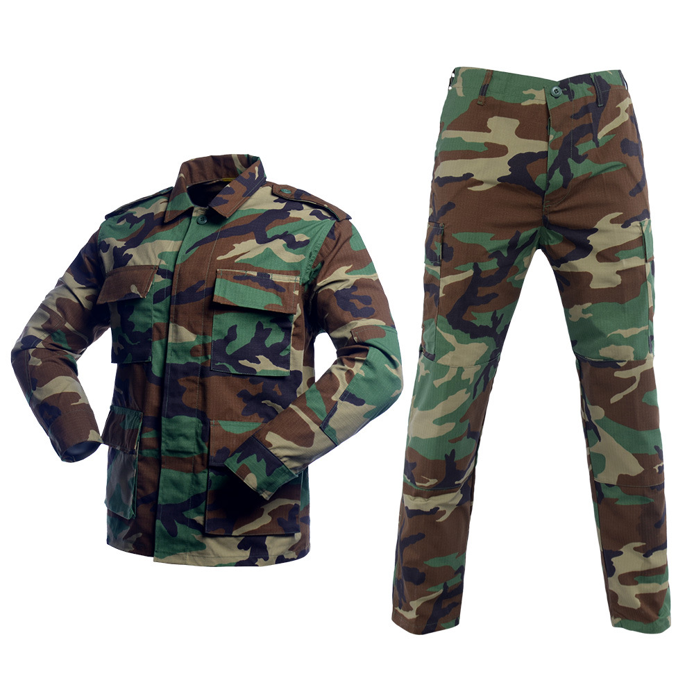 Hot Selling Bdu Woodland Camo Military Uniform Ripstop Camouflage Fabric Bdu Tactical Uniform