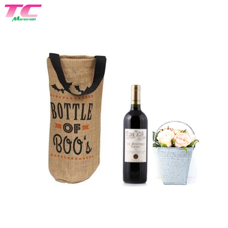 Hot Item Special Wine Bottle Carry Bag Beverage Carrier For Picnic Burlap Perfect Gift Lover