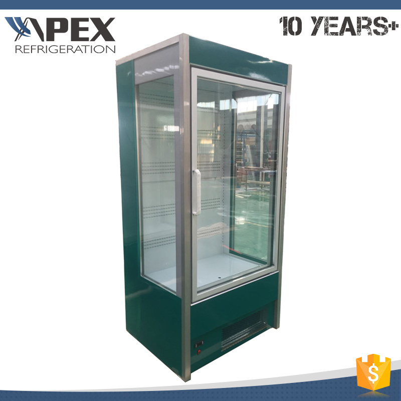 China Supermarket Open Air Chiller With Glass Door China Open