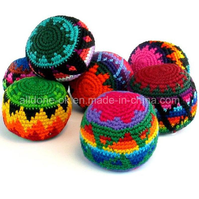China Customized Promotional Gift Kick Hacky Sack Knitted Crochet ...