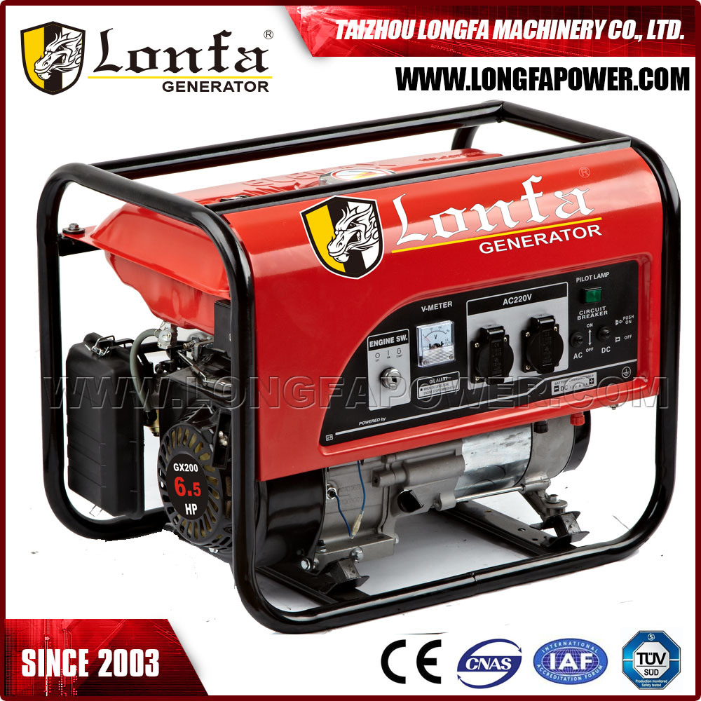 Gx200 6.5HP Electric Start Portable Generator Gasoline pictures & photos