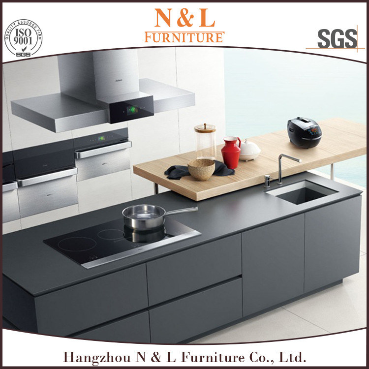 Top Quality High Gloss Lacquer Wood Kitchen Cabinets pictures & photos