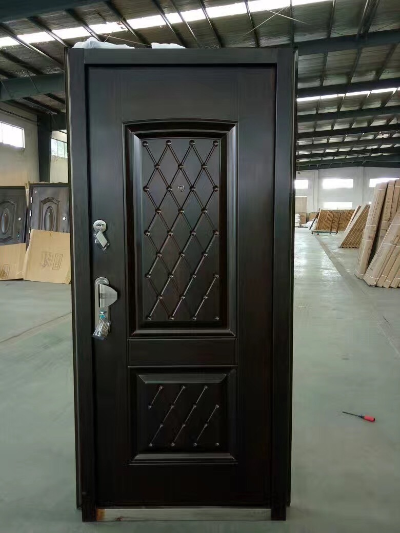 China Main Entrance Exterior Cheap Nigeria Steel Security Door