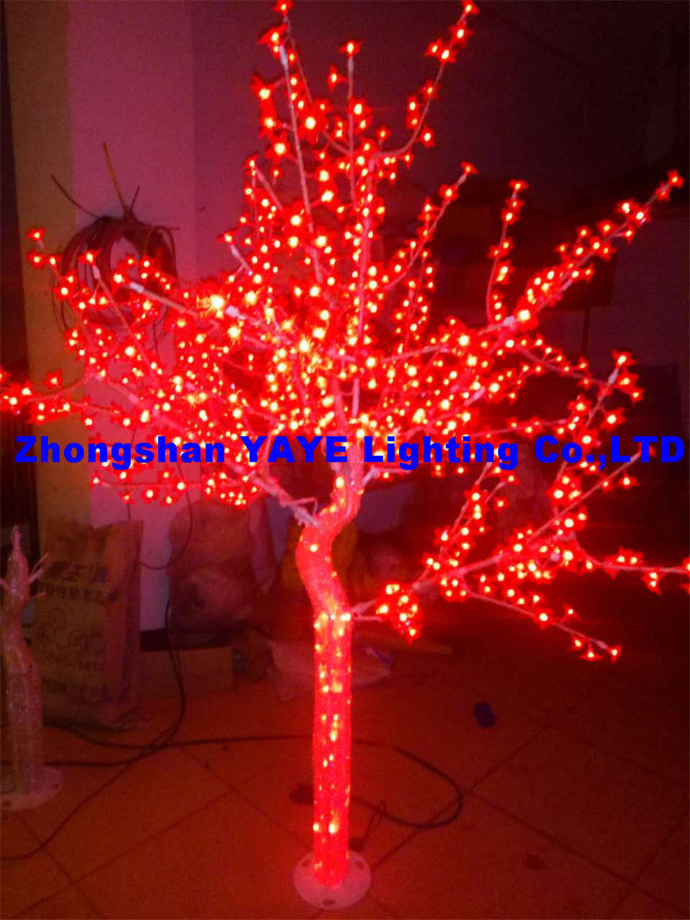 China Yaye 18 Hot 2 Years Warranty Red Led Tree Light Rohs Christmas Festival Abs Lights Ce