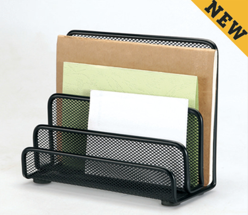 China Metal Mesh Stationery Letter Shelf Office Desk Accessories