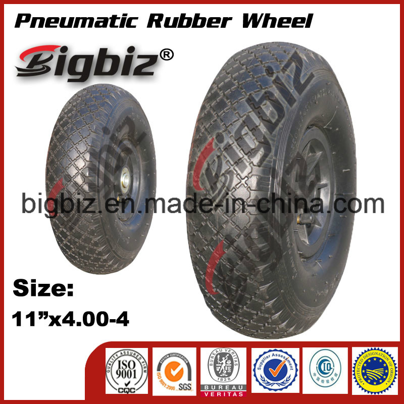 Small 6*2 Inches Pneumatic Solid Rubber Wheel