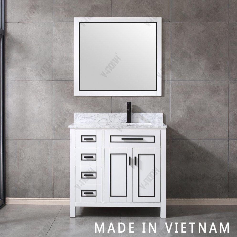 Vietnam Wholesale New Design Solid Wood Marble Top Bathroom Vanities Accessories China Bathroom Cabinet Floor Mounted Vanity Combo Made In China Com