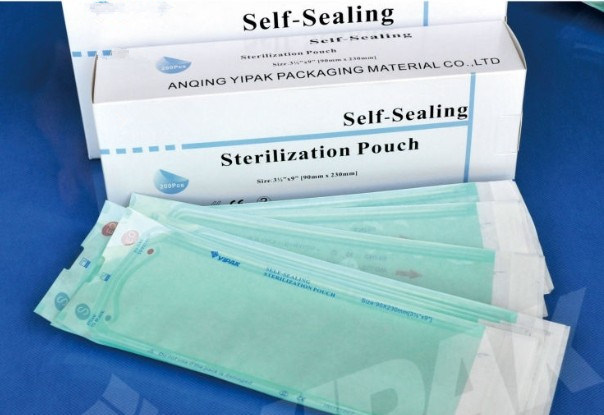 Disposable Medical Heat Seal Flat Self Sealing Sterilization Pouch