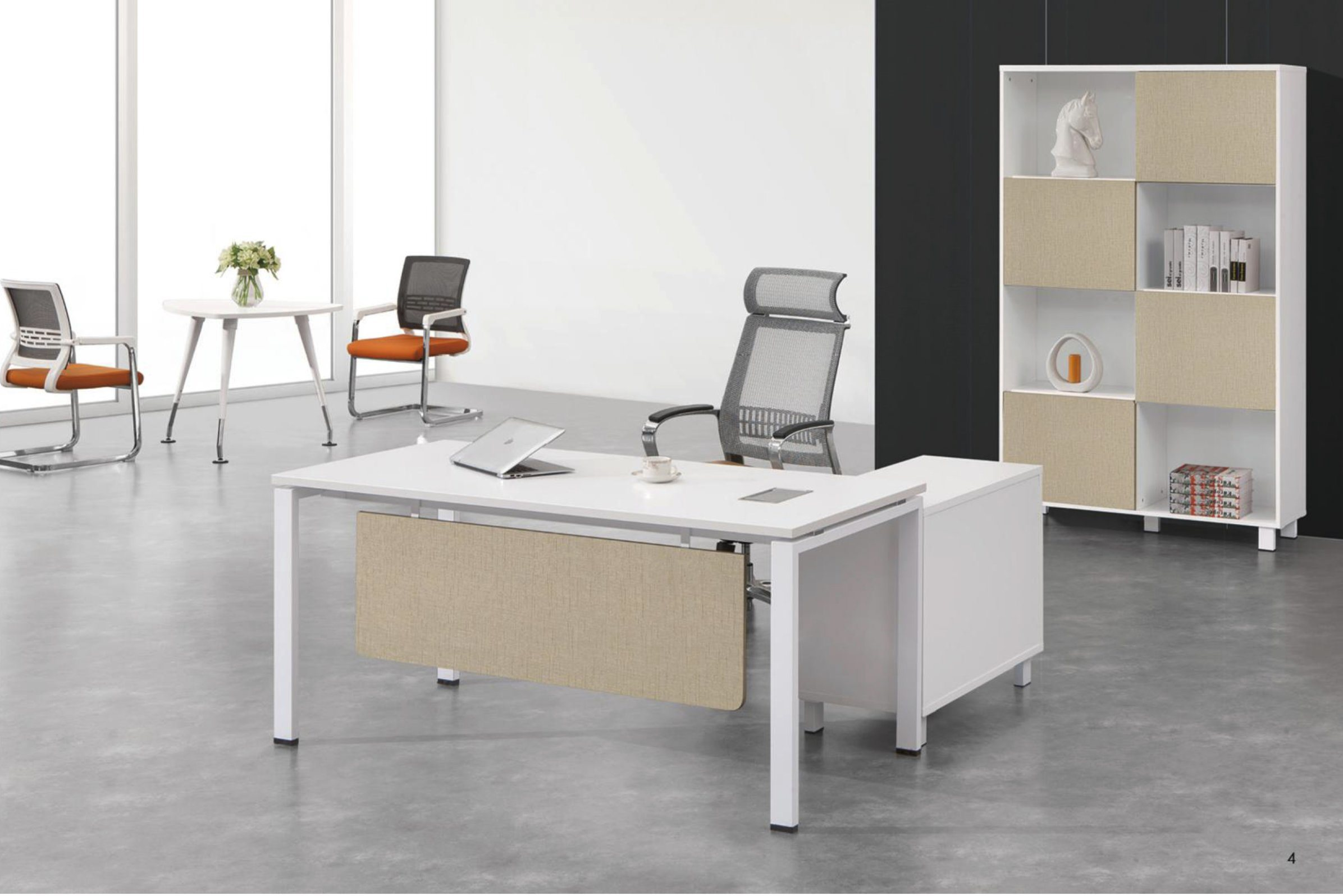 China L Shaped Modern Office Melamine Executive Manager Desk Table