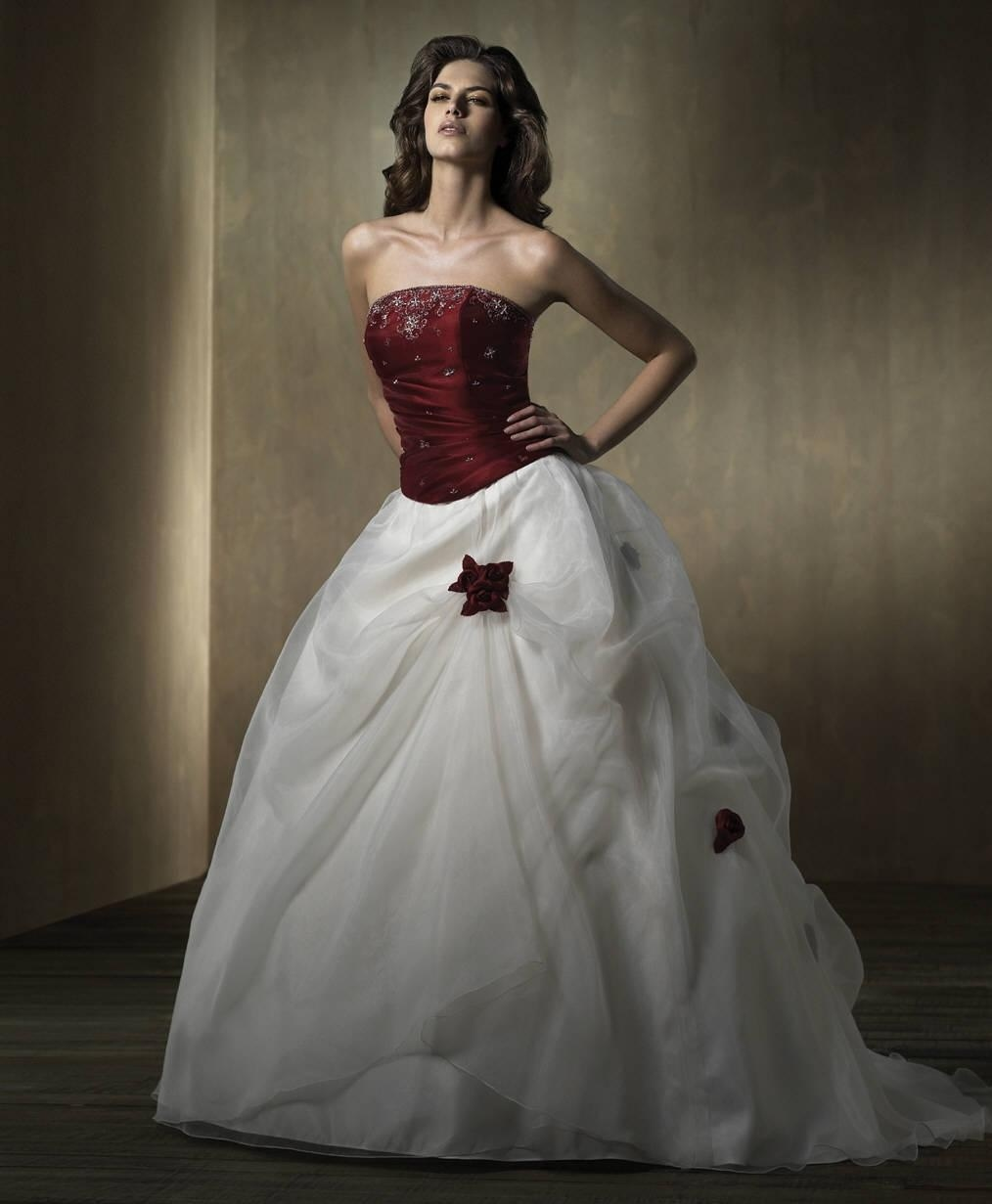 Color Wedding Gown: China Wedding Dress With Color (Eurowd052)