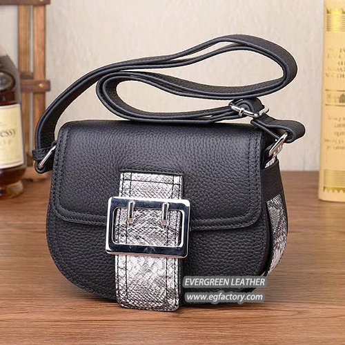 Las Shoulder Handbags China Manufacturing Women Leather Handbag Emg5305