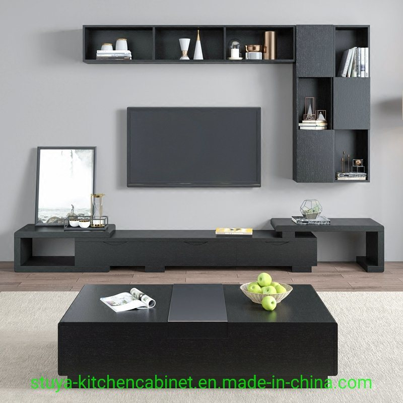 China Modern Furniture Design Wooden LED TV Cabinet with ...