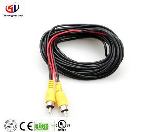15 Meters RCA Video Cable Car Reverse Rear View Parking Camera Video Cable With Detection Wire